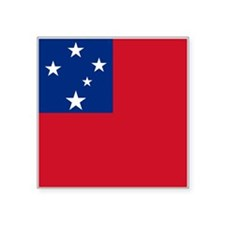 "Samoa Flag Square Sticker 3"" x 3"""