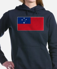 Samoa Flag Women's Hooded Sweatshirt