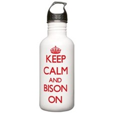 Keep calm and Bison On Water Bottle