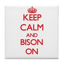 Keep calm and Bison On Tile Coaster