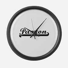 Paxton surname classic retro desi Large Wall Clock