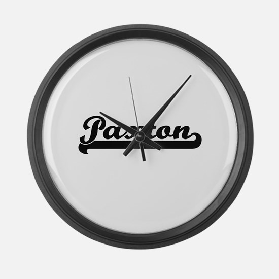 Paxton surname classic retro desi Large Wall Clock