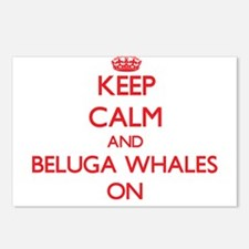 Keep calm and Beluga Whal Postcards (Package of 8)