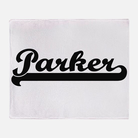 Parker surname classic retro design Throw Blanket