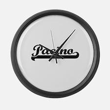 Pacino surname classic retro desi Large Wall Clock
