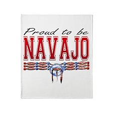 Proud to be Navajo Throw Blanket