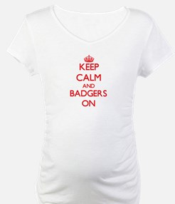 Keep calm and Badgers On Shirt