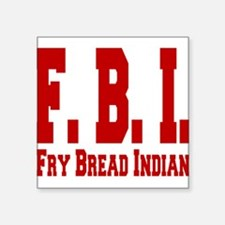 "Frybread Indian Square Sticker 3"" x 3"""