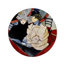 Toulouse-Lautrec - Box in the Grand Tier Button
