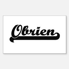 Obrien surname classic retro design Decal