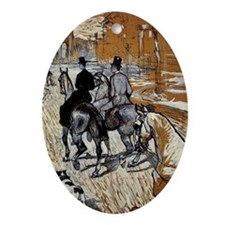Toulouse-Lautrec: Horsemen Riding in Oval Ornament