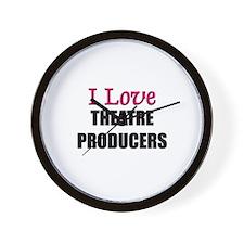 I Love THEATRE PRODUCERS Wall Clock