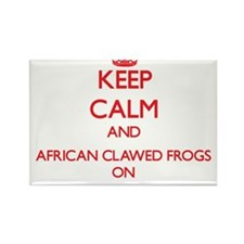 Keep calm and African Clawed Frogs On Magnets