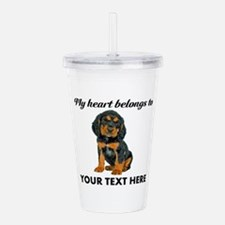 Custom Gordon Setter Acrylic Double-wall Tumbler
