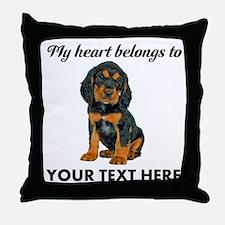 Custom Gordon Setter Throw Pillow