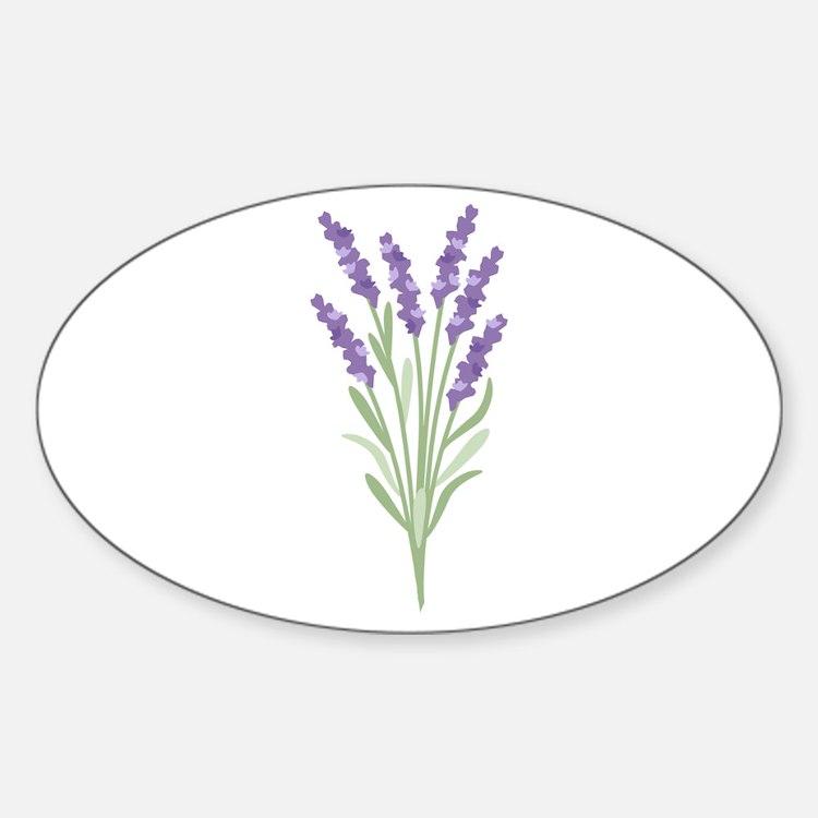 Lavender Flower Decal