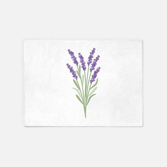 Lavender Flower 5'x7'Area Rug