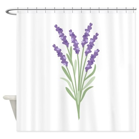 Lavender Flower Shower Curtain by Hopscotch18 Lavender Shower Curtains