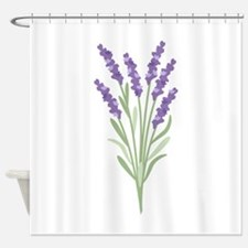 Lavender Flower Shower Curtain