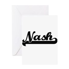 Nash surname classic retro design Greeting Cards