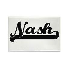 Nash surname classic retro design Magnets