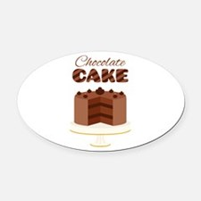 Chocolate Cake Oval Car Magnet