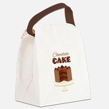 Chocolate Cake Canvas Lunch Bag
