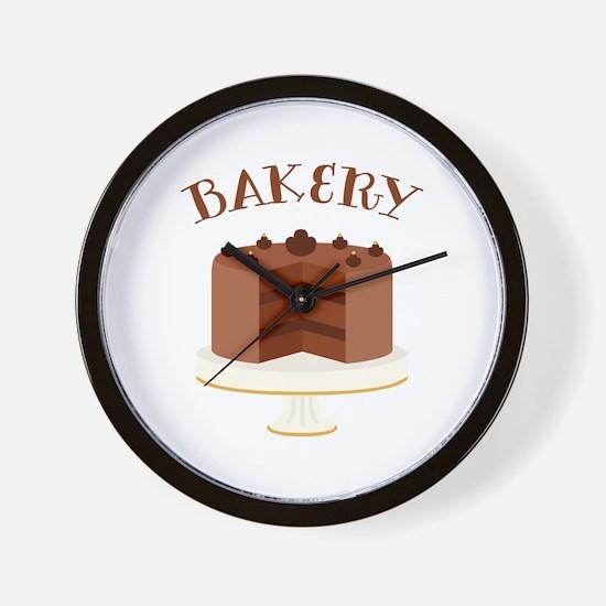 Chocolate Cake Bakery Wall Clock