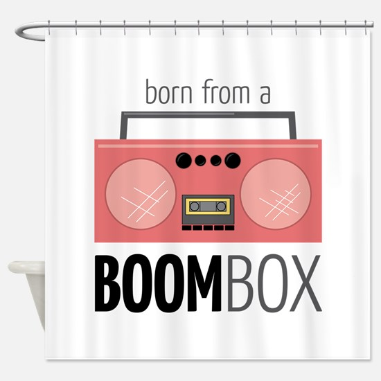Born from a Boombox Shower Curtain