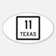 State Highway 11, Texas Sticker (Oval)