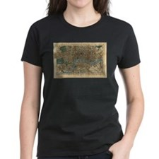 Vintage Map of London England (1860) T-Shirt