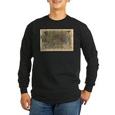 Vintage Map of London England Long Sleeve T-Shirt