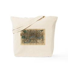 Vintage Map of London England (1860) Tote Bag