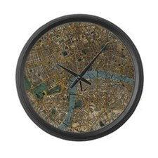 Vintage Map of London England (18 Large Wall Clock