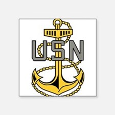 "Unique Senior chief petty officer Square Sticker 3"" x 3"""