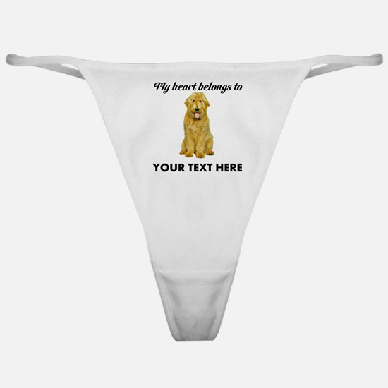 Personalized Goldendoodle Classic Thong