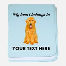 Personalized Goldendoodle baby blanket
