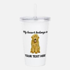 Personalized Goldendoo Acrylic Double-wall Tumbler