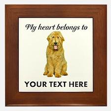 Personalized Goldendoodle Framed Tile