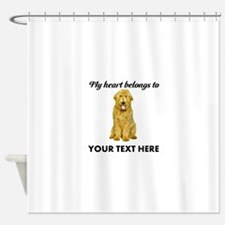 Personalized Goldendoodle Shower Curtain
