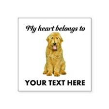 Personalized Goldendoodle Square Sticker 3