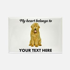 Personalized Goldendoodle Rectangle Magnet