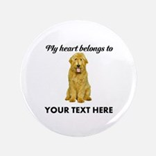 Personalized Goldendoodle Button