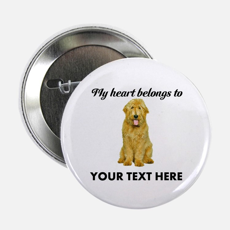 """Personalized Goldendoodle 2.25"""" Button"""