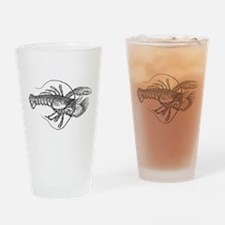 Vintage Lobster illustration Drinking Glass
