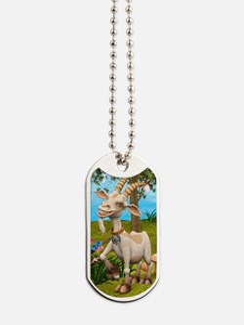 Happy Goat Dog Tags