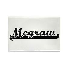 Mcgraw surname classic retro design Magnets