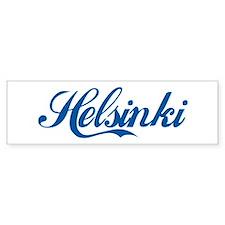Helsinki (cursive) Bumper Bumper Sticker