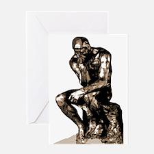 Rodin Thinker Remake Greeting Card