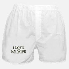 Love my wife fishing Boxer Shorts
